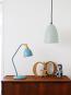 Blau graue Schreibtischlampe. Bild 3
