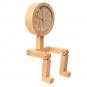 Männchen-Uhr aus Holz. Bild 3