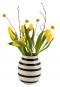 Schwarz-weiße Vase »Omaggio, groß«. Bild 3