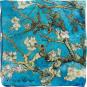 Seidentuch Vincent van Gogh »Mandelbaum«, blau. Bild 3