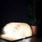 Buch als Lampe Holz, groß. Bild 4