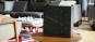 Schwarze Wanduhr mit LED Anzeige. Bild 4