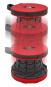 Teleskop-Hocker, rot/schwarz. Bild 4