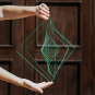 Kinetisches Mobile & Spiel »The Square Wave«, smaragdgrün. Bild 5