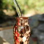 Kleine Wasserflasche aus Kupfer »Diamant«. Bild 5