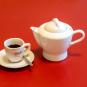 Espressokocher mit Porzellankanne. Bild 6