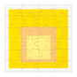 MoMA Josef Albers Holzpuzzle-Set. 6 Puzzle in einer Box. Bild 6