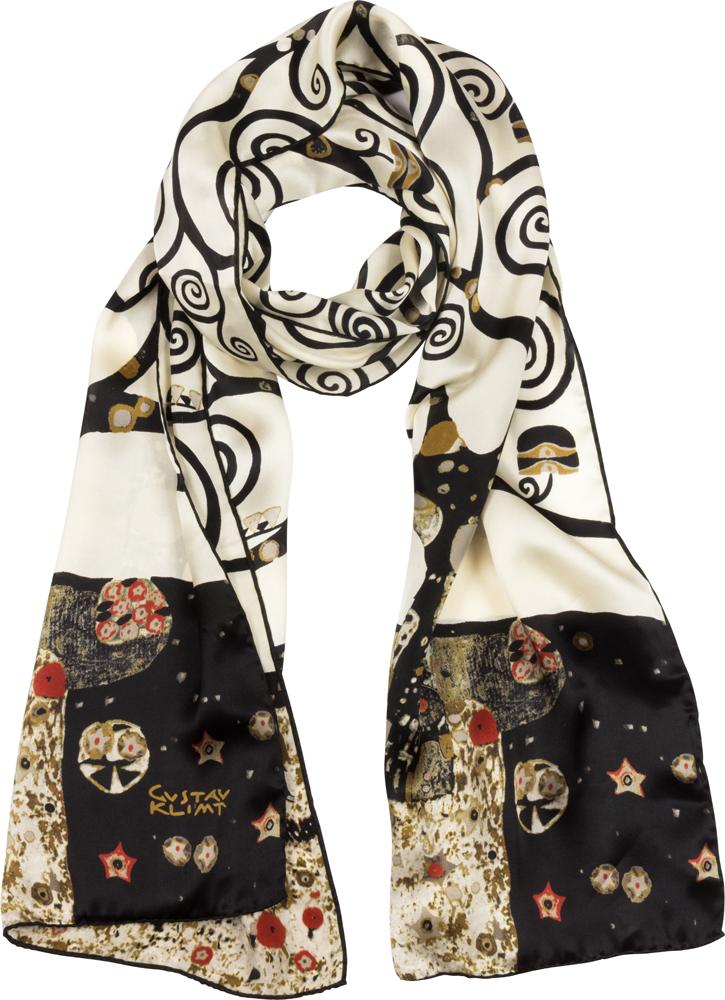 günstigster Preis wie man kauft Entdecken Sie die neuesten Trends Seidenschal Gustav Klimt »Lebensbaum«, schwarz-weiß.